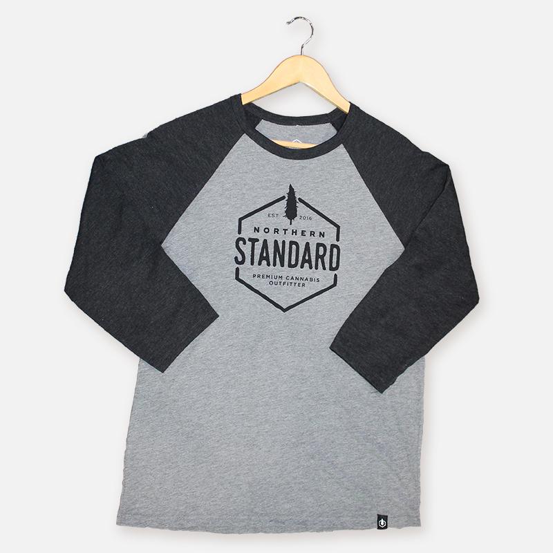Northern Standard Unisex Raglan Shirt – Charcoal