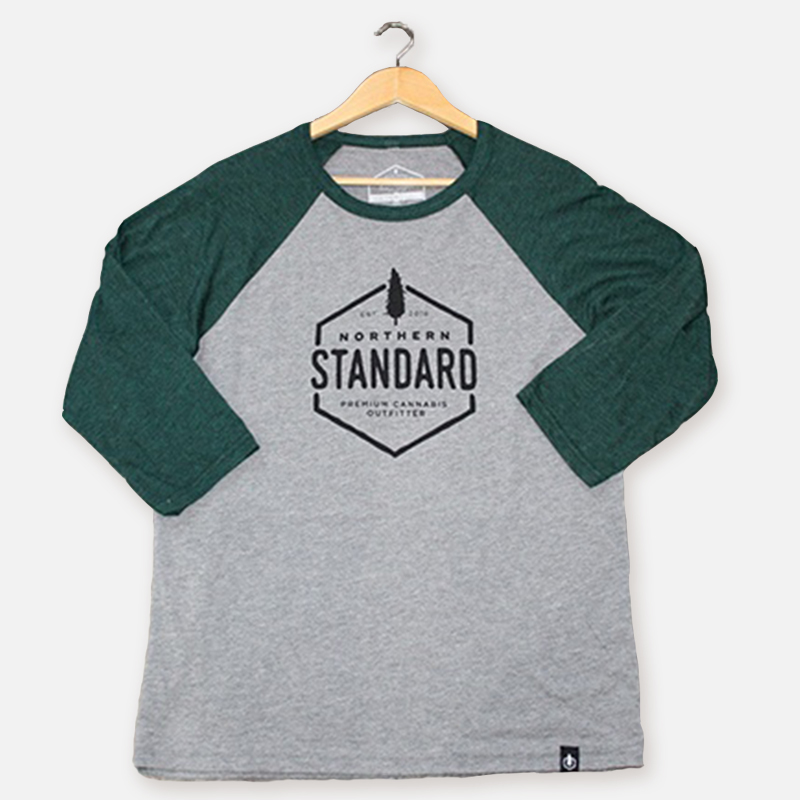 Northern Standard Unisex Raglan Shirt – Green Sleeves