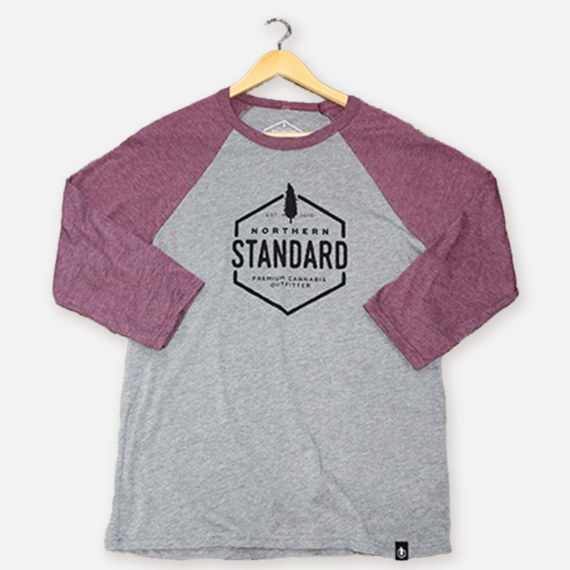 Northern Standard Unisex Raglan Shirt – Maroon Sleeves
