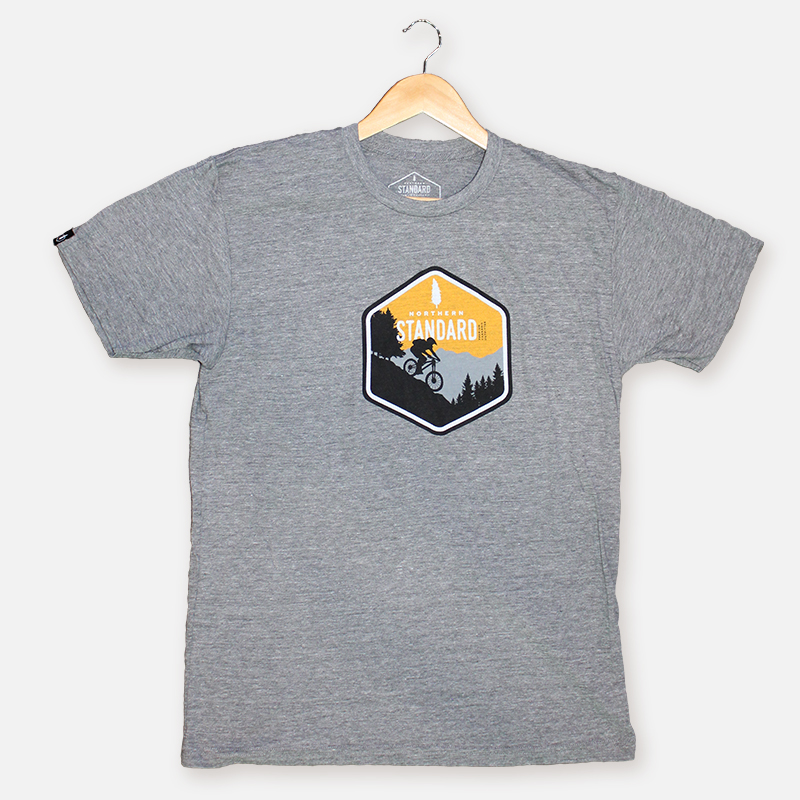 Downhill Mountain Biker Men's Shirt – Grey