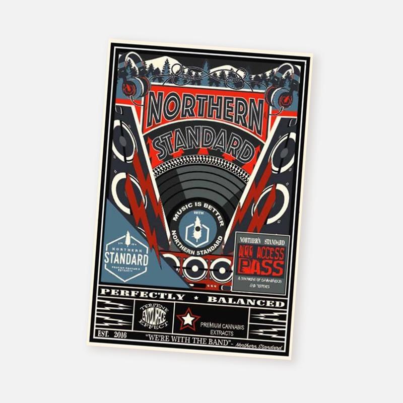 Postcard – Concert (Red)