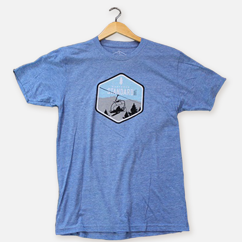 Snowboarder Lift Men's Shirt – Heather Blue