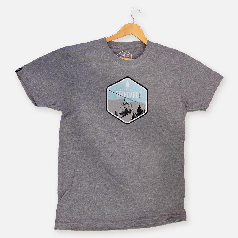 Snowboarder Lift Men's Shirt – Grey