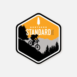 Sticker- Orange - Mountain Biking