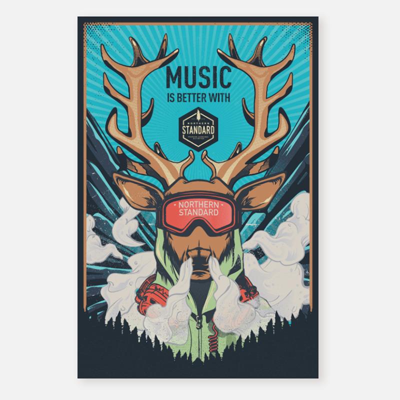 Poster – Elk Head