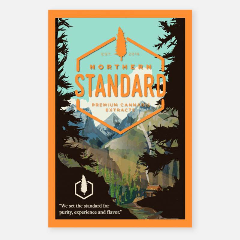 Poster – National Park (Orange)