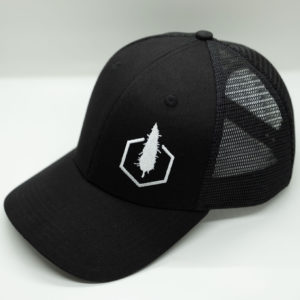 Black Baseball Cap - Side